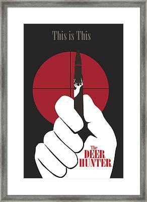 The Deer Hunter Framed Print by Ron Regalado