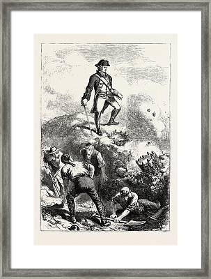The Defence Of Breeds Hill Prescott In The Redoubt Framed Print by American School