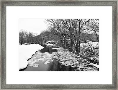 The Delaware Canal In Winter - Stockton New Jersey Framed Print by Bill Cannon
