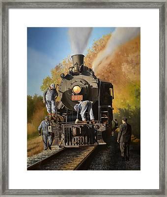 The Delay Framed Print by Lee Alban