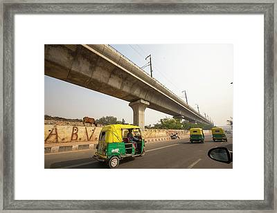 The Delhi Metro Framed Print