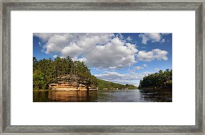 The Dells Of The Wisconsin River Framed Print