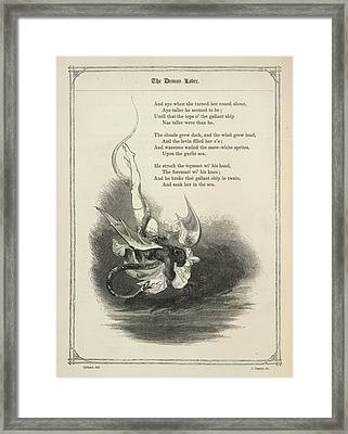 The Demon Lover Framed Print by British Library