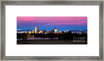 The Denver Skyline Framed Print