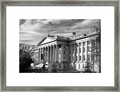 The Department Of Treasury Framed Print by Olivier Le Queinec