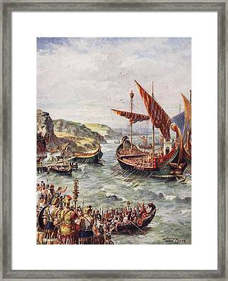 The Departure Of The Romans Framed Print