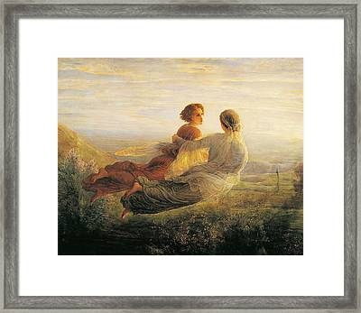 The Departure Of The Soul Framed Print by Louis Janmot