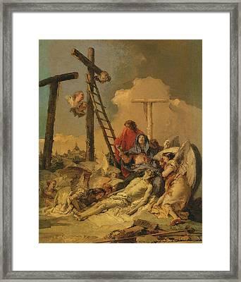 The Deposition Framed Print by Giovanni Battista Tiepolo