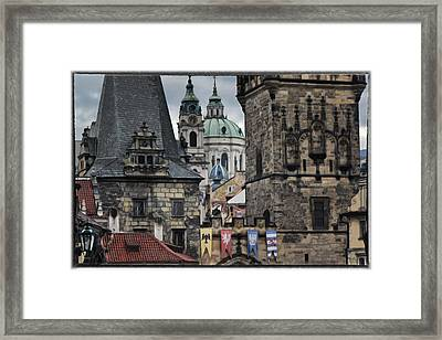 The Depths Of Prague Framed Print by Joan Carroll