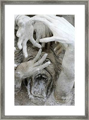 The Descension Of The Consumer  Framed Print by Nola Lee Kelsey