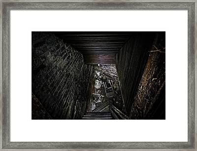 The Descent Framed Print by Brett Engle