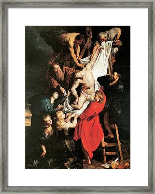 The Descent From The Cros Framed Print by Peter Paul Rubens