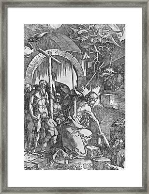 The Descent Of Christ Into Limbo Framed Print by Albrecht Duerer