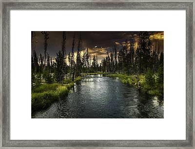 The Deschutes River Framed Print by Jean-Jacques Thebault