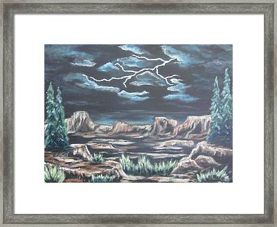 The Desert Long Forgotten Framed Print