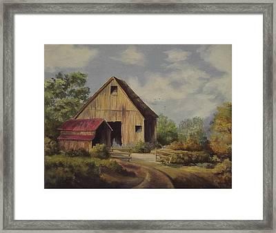 The Deserted Barn Framed Print by Wanda Dansereau
