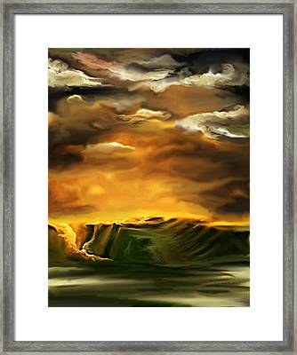 Framed Print featuring the painting The Desertland by Persephone Artworks