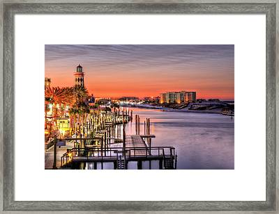 The Destin Harbor Walk Framed Print by JC Findley