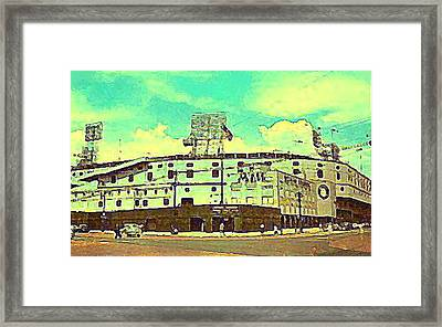The Detroit Tigers Briggs Stadium In The 1950s Framed Print