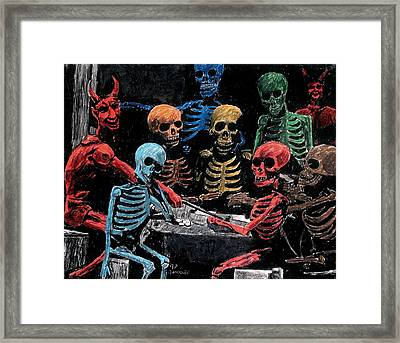 The Devil And Friends Framed Print by Jeremy Moore