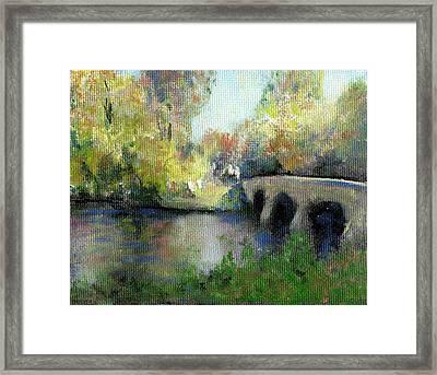 The Devilbone Bridge Framed Print by David Zimmerman