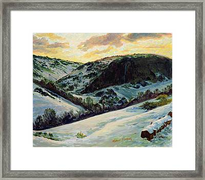 The Devils Dyke In Winter, 1996 Framed Print by Robert Tyndall