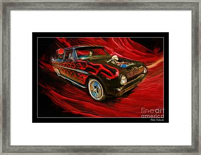 The Devil's Ride Framed Print