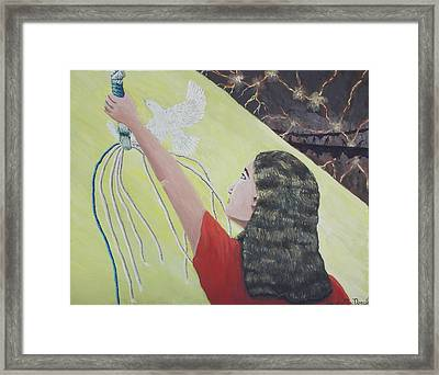 The Devils Wind Chimes Framed Print