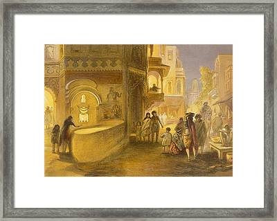 The Dewali Or Festival Of Lamps Framed Print