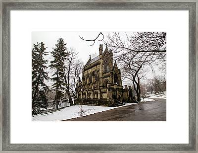 Framed Print featuring the photograph The Dexter Mausoleum by Cathy Donohoue