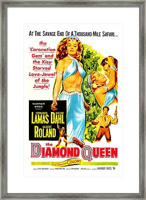 The Diamond Queen, Us Poster, From Left Framed Print