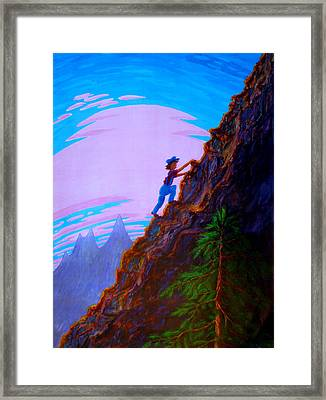 The Difficult And The Steep Framed Print