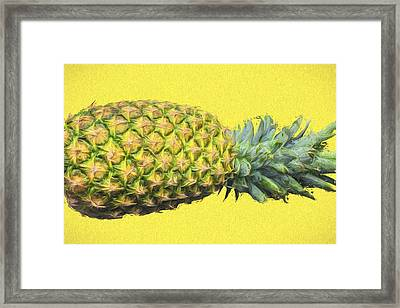 The Digitally Painted Pineapple Sideways Framed Print