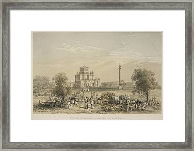 The Dil Khoosha Palace And The Martiniere Framed Print by British Library