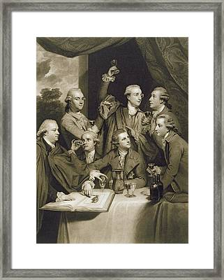 The Dilettanti Society Framed Print by Sir Joshua Reynolds
