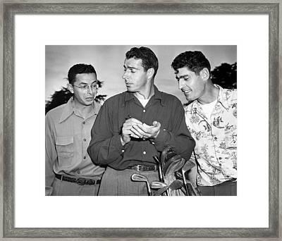 The Dimaggio Brothers Framed Print by Underwood Archives