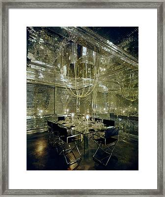 The Dining Room Of Ara Gallant's Apartment Framed Print by William Grigsby
