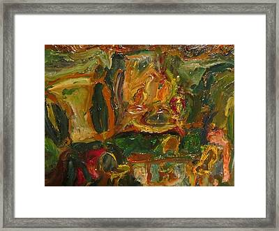 The Dining Room Framed Print by Shea Holliman