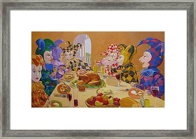 The Dinner Party Framed Print by Leonard Filgate