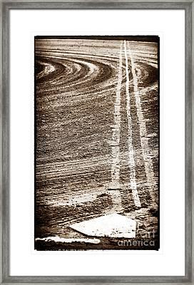 The Dirt Field Framed Print by John Rizzuto