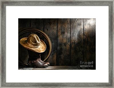 The Dirty Hat Framed Print by Olivier Le Queinec