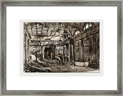 The Disastrous Fire At Freemasons Hall, Great Queen Street Framed Print