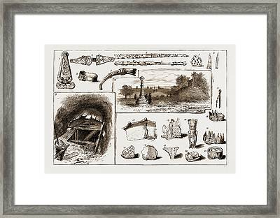 The Discovery Of A Vikings Remains At Taplow, Uk, 1883 1 Framed Print by Litz Collection