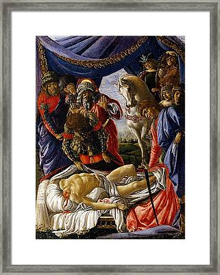 The Discovery Of Holofernes Corpse Framed Print by Sandro Botticelli