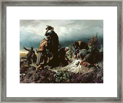 The Discovery Of King Louis IIs Body Framed Print