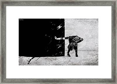 The Disease Of Racism Framed Print by Sina Souza