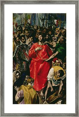 The Disrobing Of Christ Framed Print by El Greco