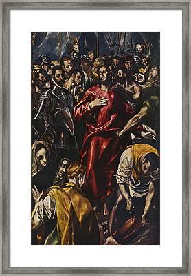The Disrobing Of Christ Framed Print