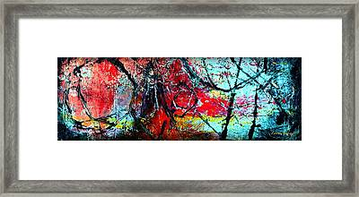 The Distance - Abstract Art By Laura Gomez - Horizontal Long Strip Format Framed Print by Laura  Gomez