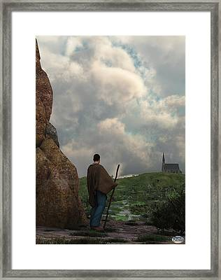 The Distant Chapel Framed Print